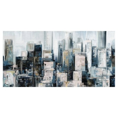 City Center By Studio Arts Wrapped Unframed Wall Canvas - Masterpiece Art Gallery
