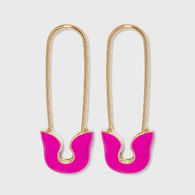 SUGARFIX by BaubleBar Enamel Safety Pin Drop Earrings