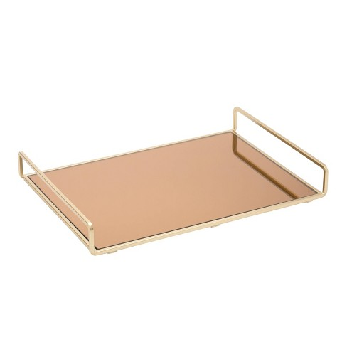 Large Classic Design Bathroom Tray Gold - Home Details - image 1 of 4