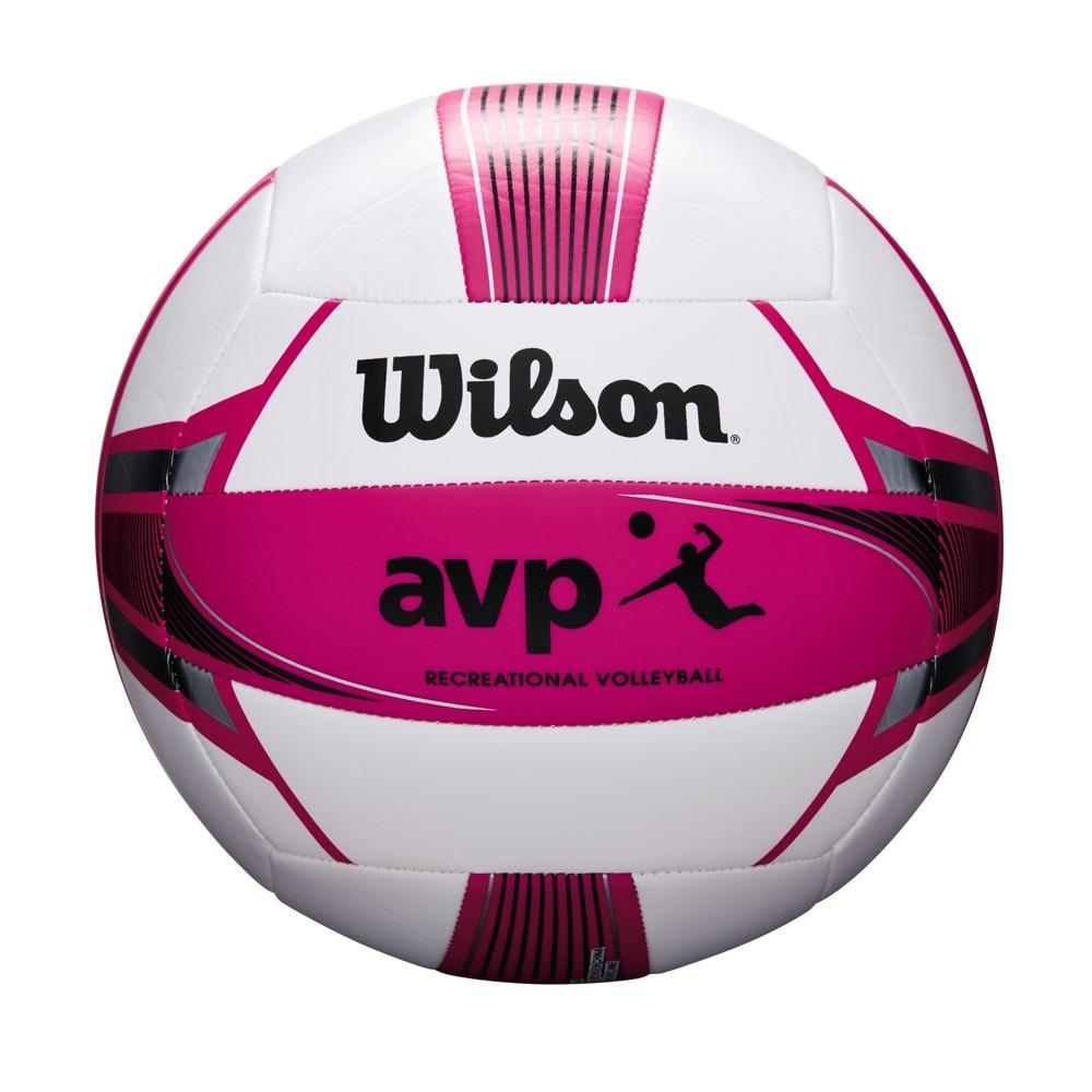 Wilson Sporting Good Women's Avp Replica Beach Game Volleyball Pink, White