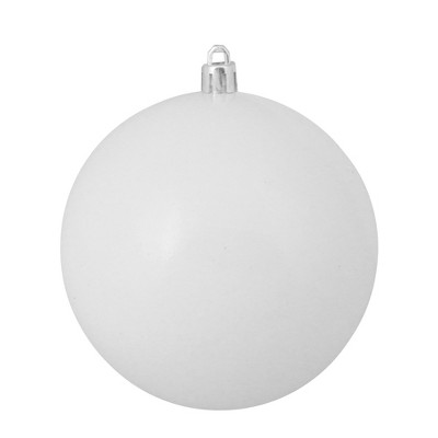 "Northlight 4"" Shatterproof Shiny Christmas Ball Ornament - White"