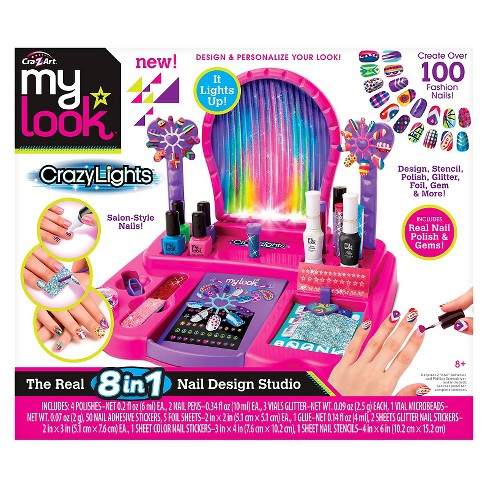 My Look 8 in 1 Super Nail Salon by Cra-Z-Art - image 1 of 4