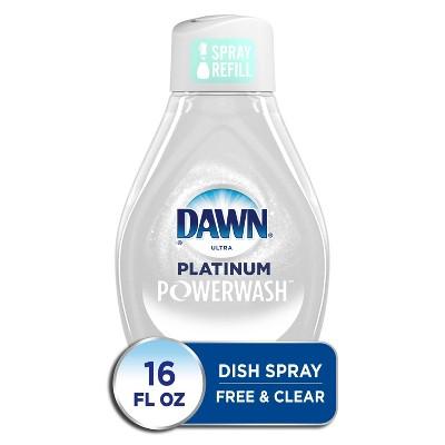 Dawn Platinum Powerwash Spray Free & Clear Refill - 16 fl oz