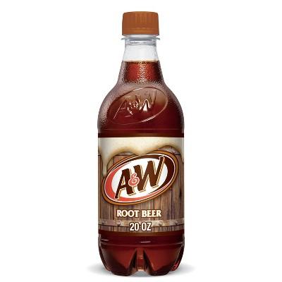 A&W Root Beer Soda - 20 fl oz Bottle