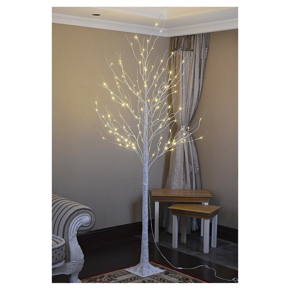 Image of Lightshare 8' Led Birch Tree Decoration Light - Warm White Lights