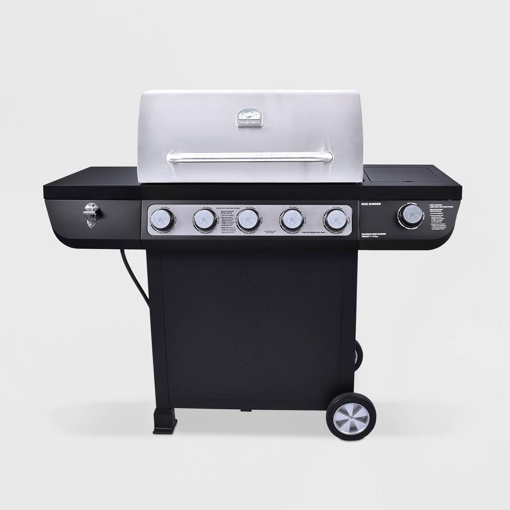 Image of Stainless Steel 5 Burner Gas Grill GAS7540AS Black - 3 Embers