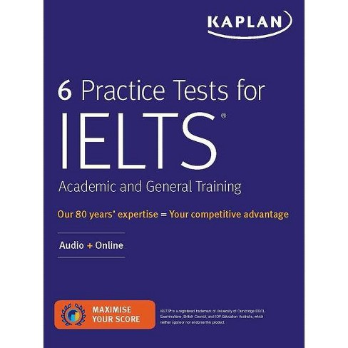 6 Practice Tests for Ielts Academic and General Training - (Kaplan Test Prep) (Paperback) - image 1 of 1