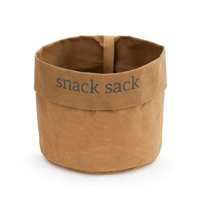 DEMDACO Washable Paper Snack Bag - Set of 2 brown