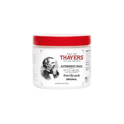 Facial Cleansing Wipes: Thayers Astringent Pads