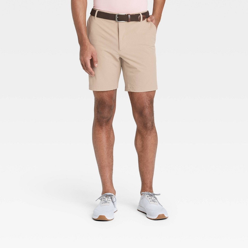 Men 39 S Heather Golf Shorts All In Motion 8482 Khaki 42