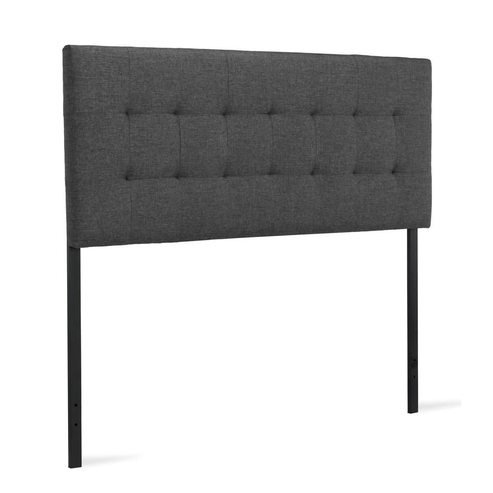 Redding Upholstered Headboard Gray - Dorel Living