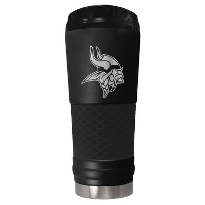 NFL Minnesota Vikings The Stealth Draft 24oz Powder Coated Laser Etched Vacuum Insulated Tumbler