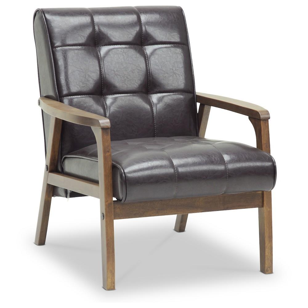 Mid-Century Masterpieces Club Chair Brown - Baxton Studio