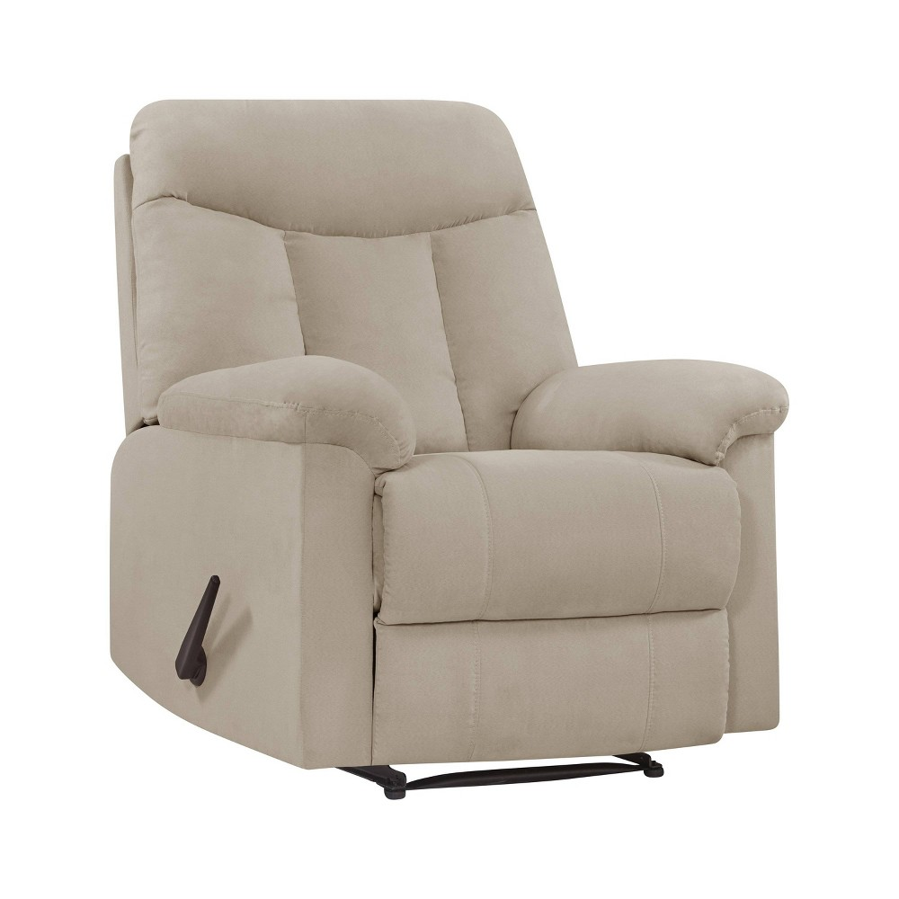 Image of Prolounger Microfiber Wall Hugger Recliner Khaki - Handy Living