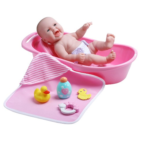 "JC Toys La Newborn 13"" Realistic smiling Baby Doll Bathtub Set with Accessories - image 1 of 3"