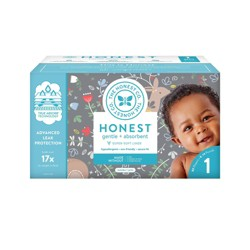 The Honest Company My Dear Disposable Diapers - Size 1 - 80ct