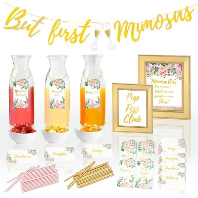 Cotier Brand 97pc Mimosa Bar Kit for Bridal Shower Decoration/Brunch Party or Bachelorette Party Supplies