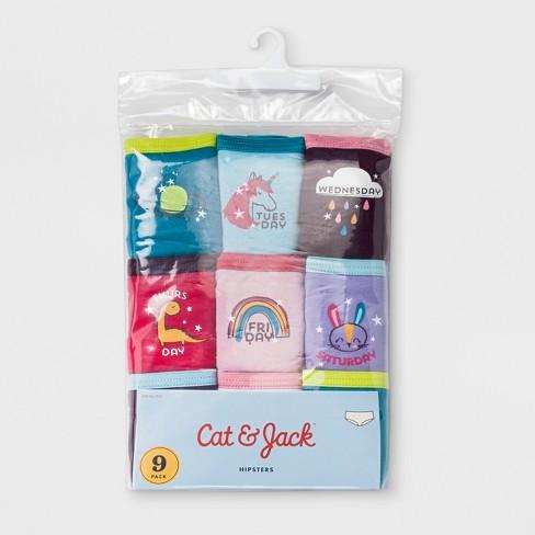 Girls' 9pk Hipster Briefs - Cat & Jack™ Blue - image 1 of 2