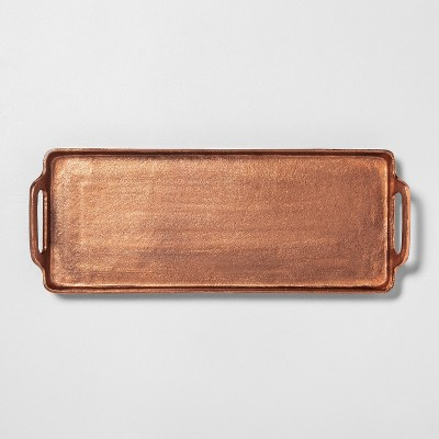 Antique Copper Finish Décor Tray - Hearth & Hand™ with Magnolia