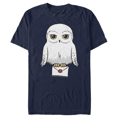Fifth Sun Mens Harry Potter Owl Slim Fit Short Sleeve Crew Graphic Tee - Blue 3X Large