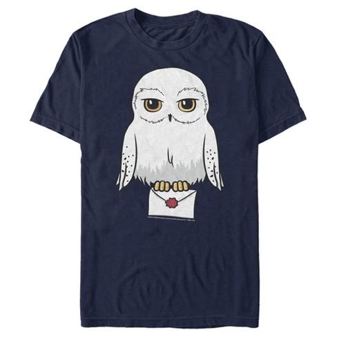 Men's Harry Potter Cartoon Hedwig Letter T-Shirt - image 1 of 4