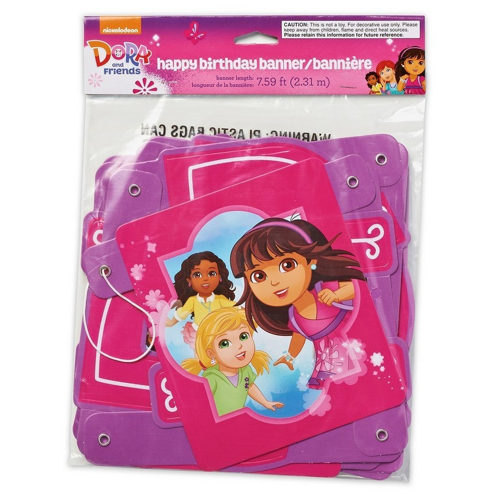 Dora and Friends Party Banner, Multi-Colored