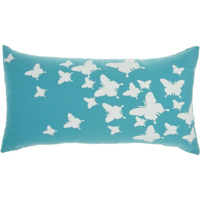 Mina Victory Outdoor Pillows L0204 Turquoise
