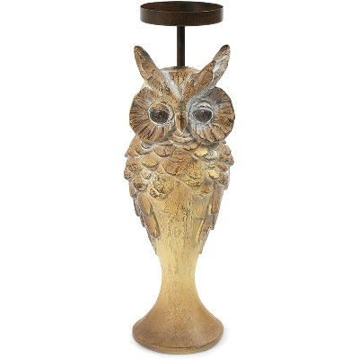 Okuna Outpost Owl Candle Holder (3.2 x 3.2 x 10.4 in)
