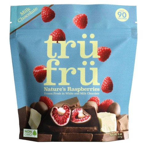 Tru Fru White & Milk Chocolate Frozen Whole Raspberries - 8oz - image 1 of 4