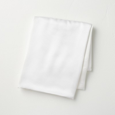 Standard Solid Silk Pillowcase White - Casaluna™