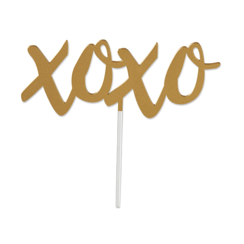 Best Sale Kate Aspen Gold Xoxo Cake Topper