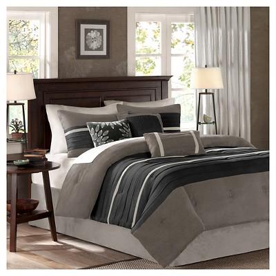 Dakota Colorblock Comforter Set (Full)Black&Gray - 7pc