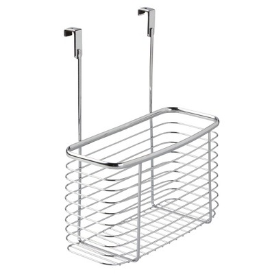 InterDesign Axis Over-the-Cabinet Storage Basket 14  Chrome