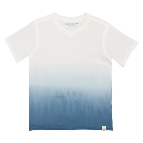Toddler Boys' Dip Dye V-Neck T-Shirt - Atlantic 6 - Burt's Bees Baby™ - image 1 of 1