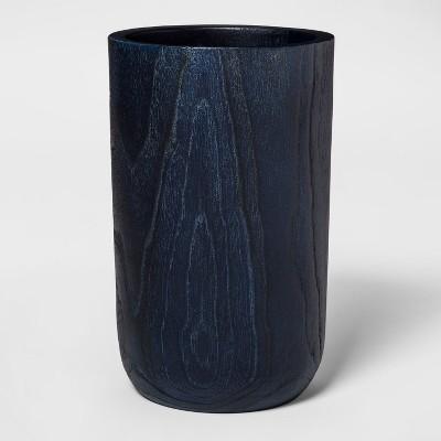 9.8  x 6.6  Teak Root Organic Wood Vase Blue - Threshold™
