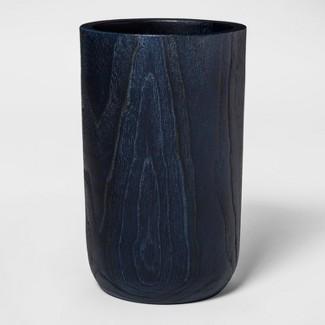 """9.8"""" x 6.6"""" Teak Root Organic Wood Vase Blue - Threshold™"""