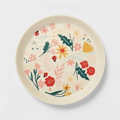 """7.25"""" Bamboo Melamine Kids Dinner Plate - Pillowfort™"""