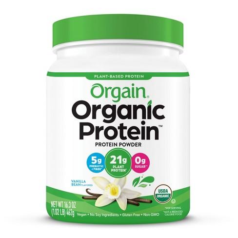 Orgain Organic Vegan Plant-Based Protein Powder - Vanilla Bean - 16.32oz - image 1 of 4