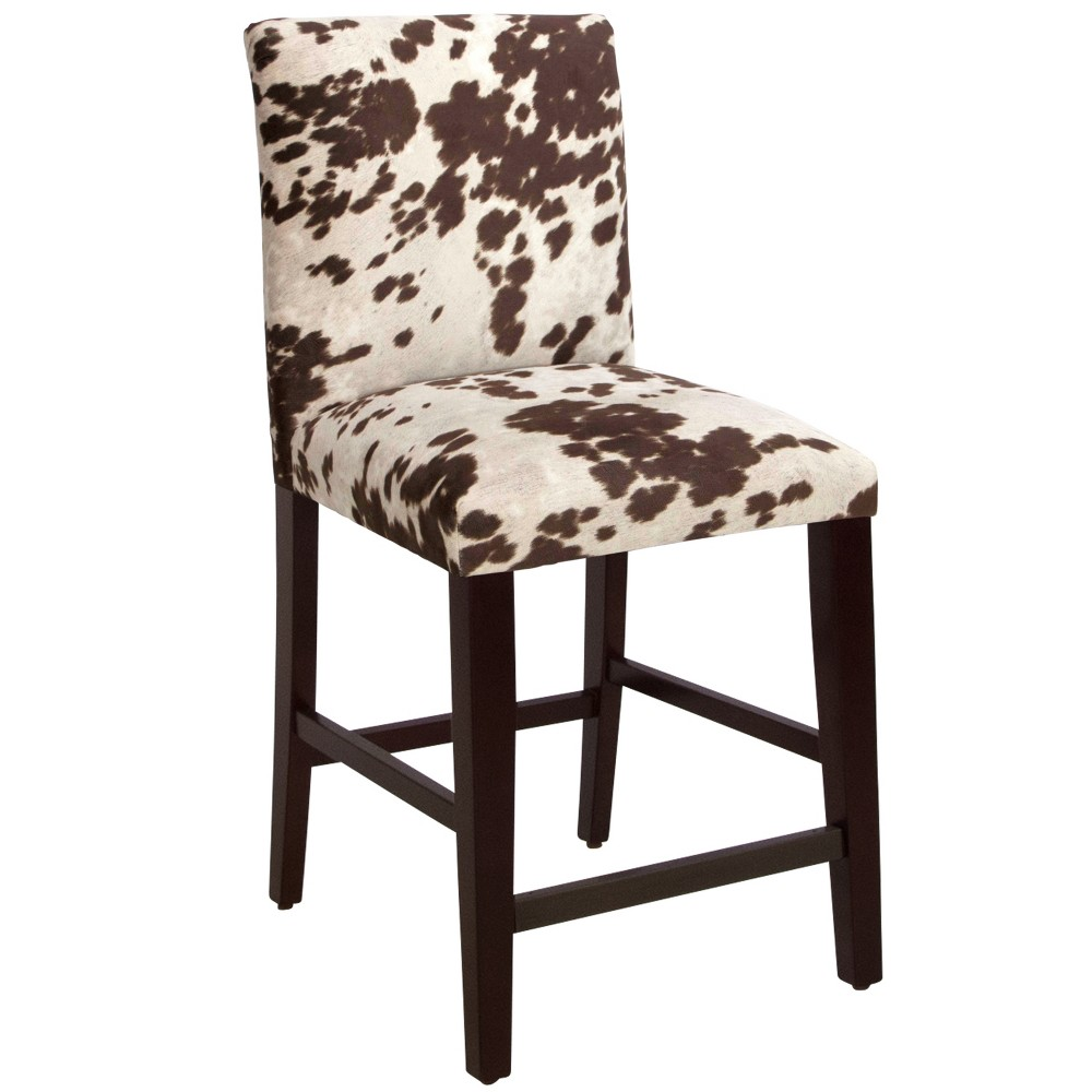 "Image of ""16"""" Uptown Counter Stool - Udder Madness Milk - Skyline Furniture, Brown"""