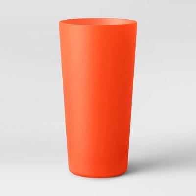 26oz Plastic Tall Translucent Tumbler Orange - Room Essentials™