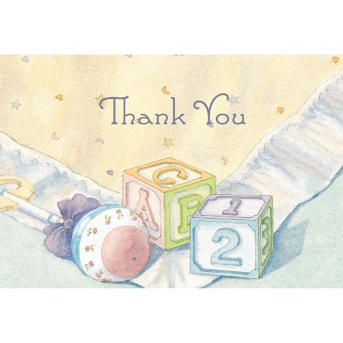 Baby Blocks Baby Shower Party Thank You Cards 24ct Target
