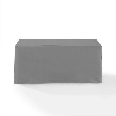 Outdoor Rectangular Table Furniture Cover - Gray - Crosley