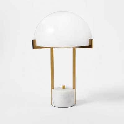 Milk Glass Dome Task Table Lamp White - Threshold™ designed with Studio McGee