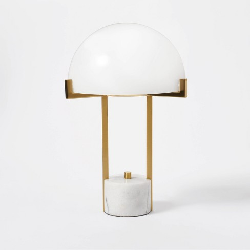Milk Glass Dome Task Table Lamp White - Threshold™ designed with Studio McGee - image 1 of 4