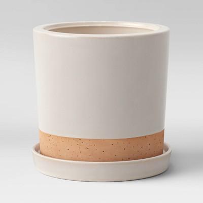 """8"""" Earthenware Planter Cream - Smith & Hawken™"""