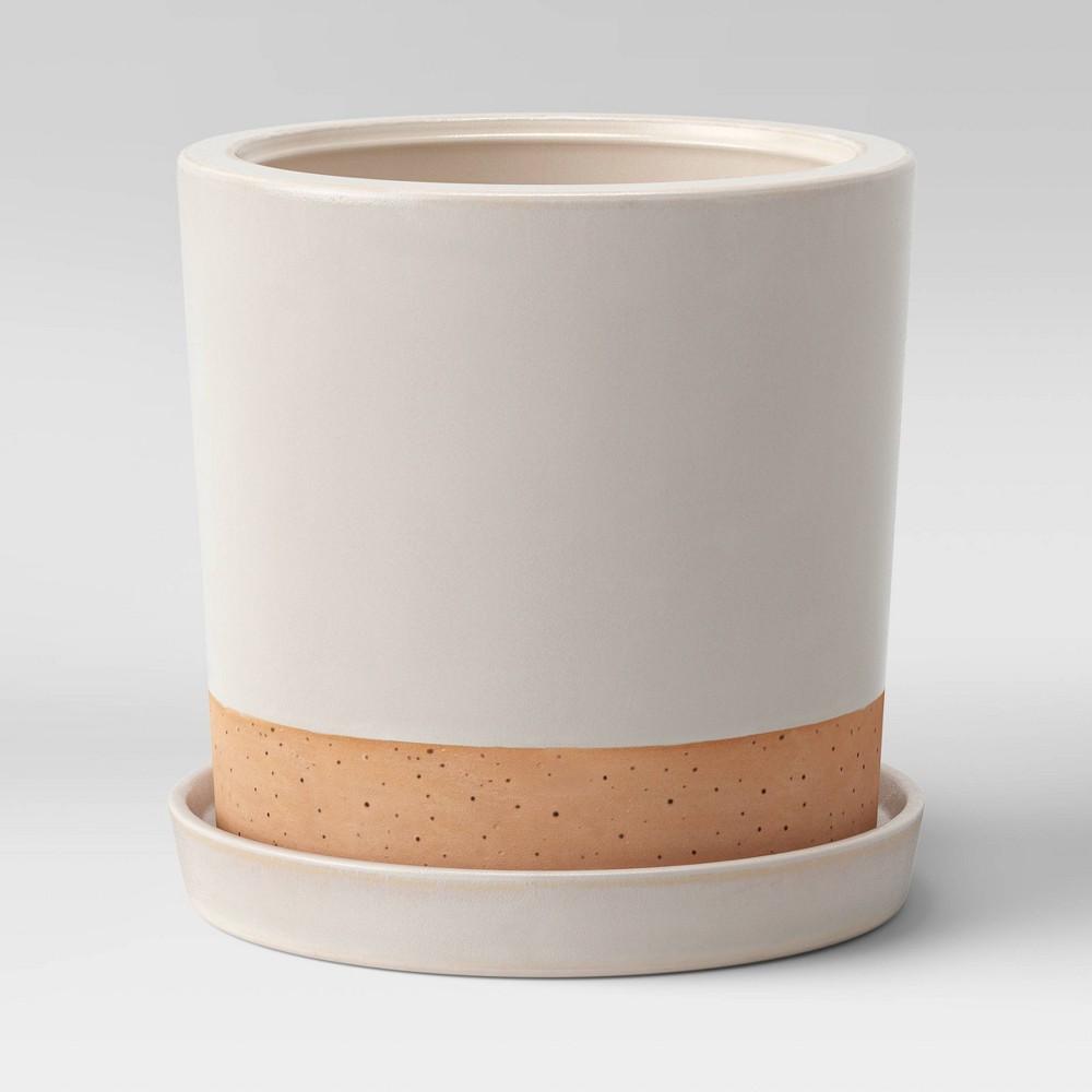 """Compare 8"""" Earthenware Planter Cream - Smith & Hawken™"""