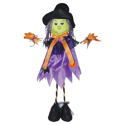 "28"" Halloween Standing Scarecrow Witch - image 1 of 1"