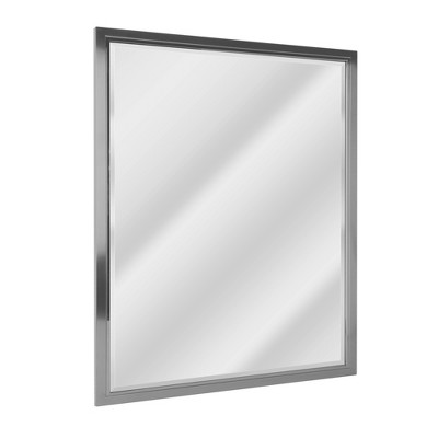 "30"" x 40"" Classic Brushed Mirror Nickel/Chrome - Head West"