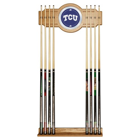NCAA TCU Horned Frogs Wood & Mirror Wall Cue Rack 2pc - image 1 of 1