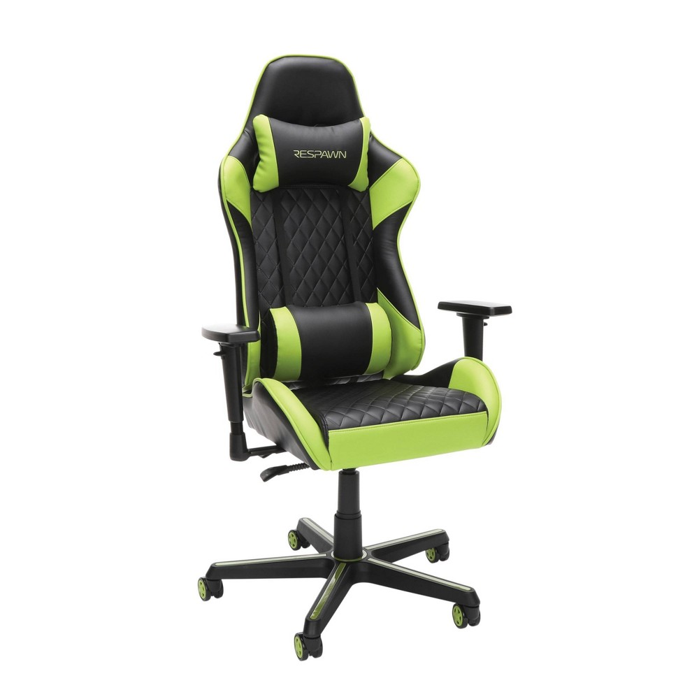 Image of 100 Racing Style Gaming Chair Green - RESPAWN
